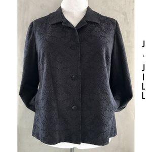 NEW Black Cotton Invert Pleat Slash Pocket Jacket